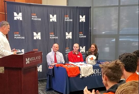 Jack Hoffman Invited to Become a Midland Warrior with Full Tuition Scholarship