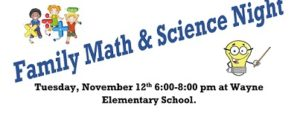 Family Math And Science Night Scheduled For Tuesday Night