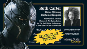Ruth Carter Event Cancelled For Wednesday, Rescheduled Date To Be Announced Once Availalbe