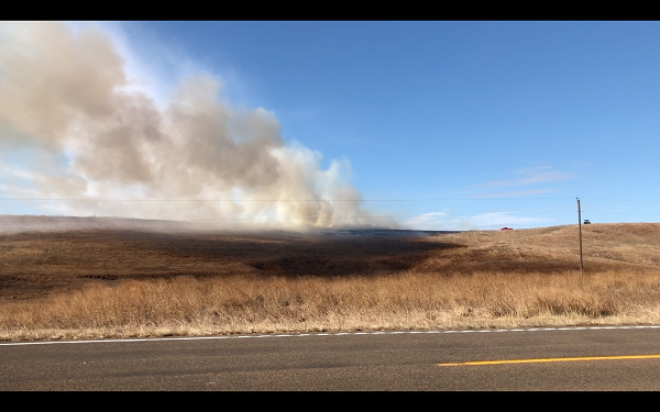 Three Different Agencies Respond To Grass Fire Between Broken Bow And Oconto