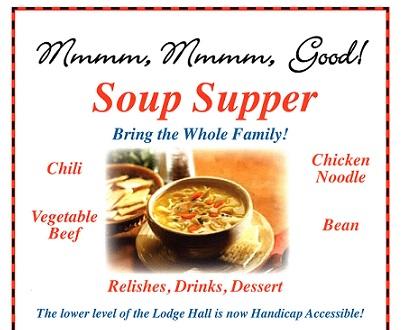 Upcoming Soup Supper At Wayne Masonic Lodge
