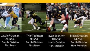 Four Wildcat Football Standouts Receive NSIC All-Conference Recognition