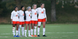 No. 12 Lady Warriors' Season Ends with Shootout in Opening Round