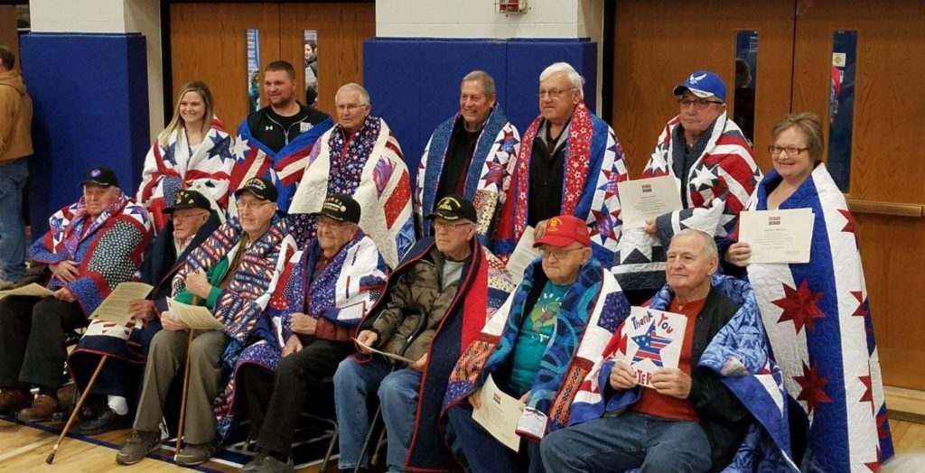 Quilts Presented, Elementary Students Recognize Veterans