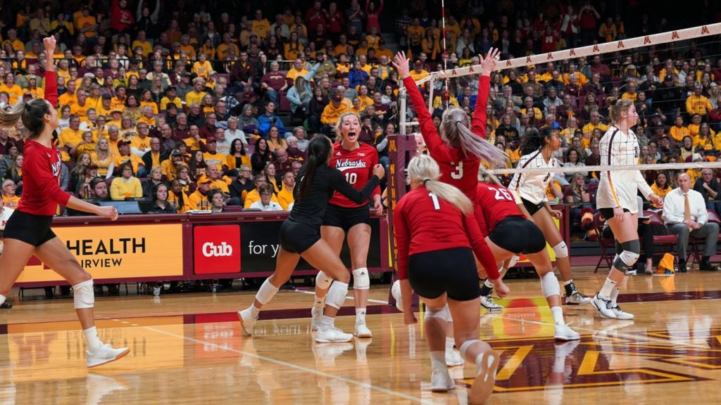 Husker Volleyball Ends Regular Season with Sweep of Ohio State