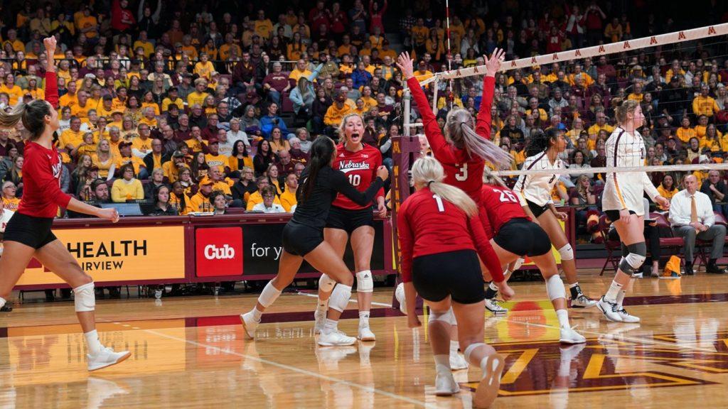 Nebraska Volleyball Defeats Minnesota in Five