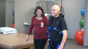 Overhead Track & Harness Allows Patients To Do More Challenging Obstacles During Therapy