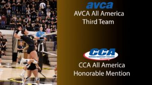 Beller Receives Third Time AVCA All-American, D2CCA All-America Honorable Mention Honors