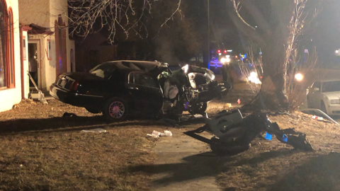 Vehicle Totaled In One-Vehicle Accident; Driver Taken To JMMMMC After Crashing Into Tree
