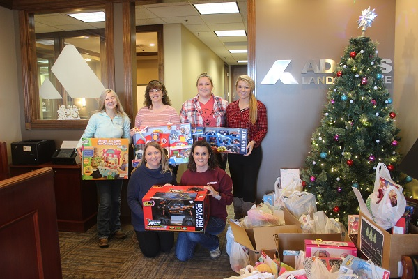 ADAMS Employees Donate Beef and over 315 Gifts to local families