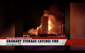 Lexington Winery Granary Storage Catches Fire