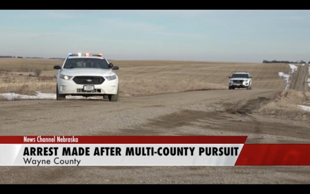 Northeast Nebraska Multi-County Pursuit Ends In Arrest