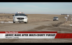 Northeast Nebraska Multi-County Pursuit Ends In Arrest