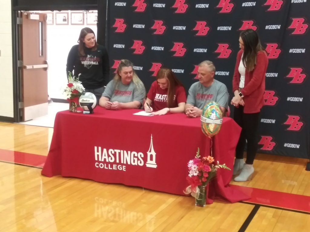 Valasek Signs Letter of Intent to Play Volleyball for Hastings College