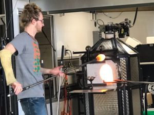 Ansley Students View Glass Blowing Demo. First Day Back from Break