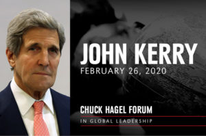 Kerry Headlining UNO Hagel Forum in Global Leadership