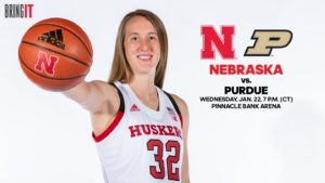 Lady Huskers to Battle Purdue at PBA