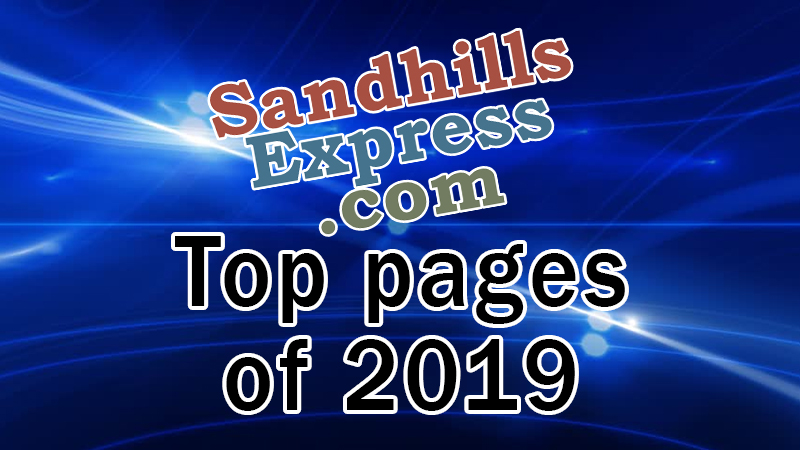 The 2019 Numbers Are In And The Top Stories And Pages On Sandhills Express For 2019 Are…