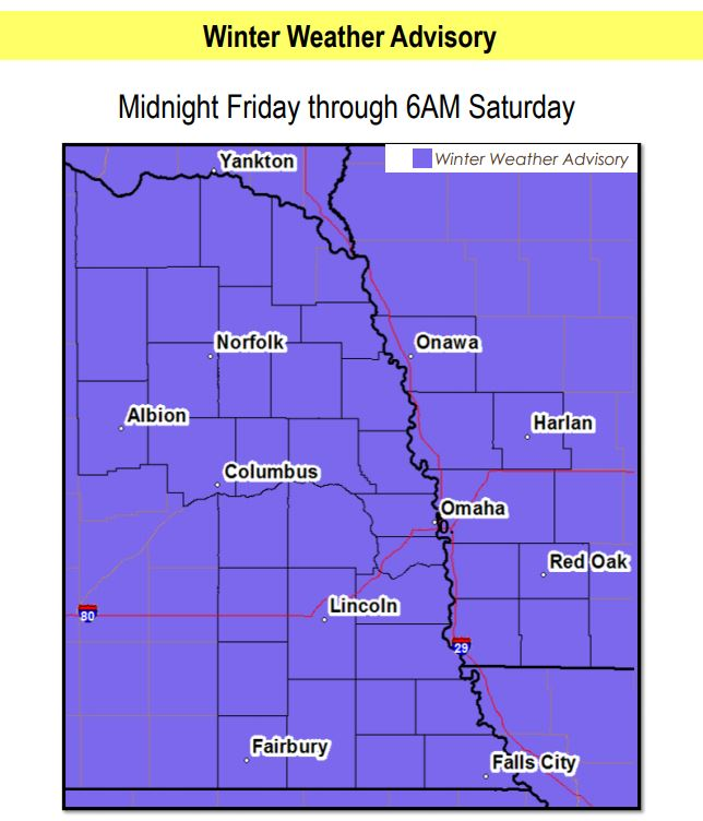 Winter Weather Advisory Issued Ahead of Friday Storm; Ice & Snow Inbound