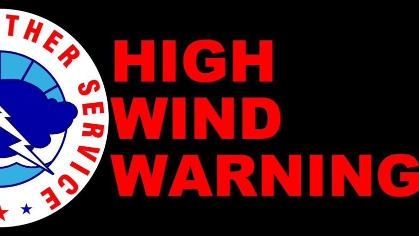 High wind warning for KCNI/KBBN listening area