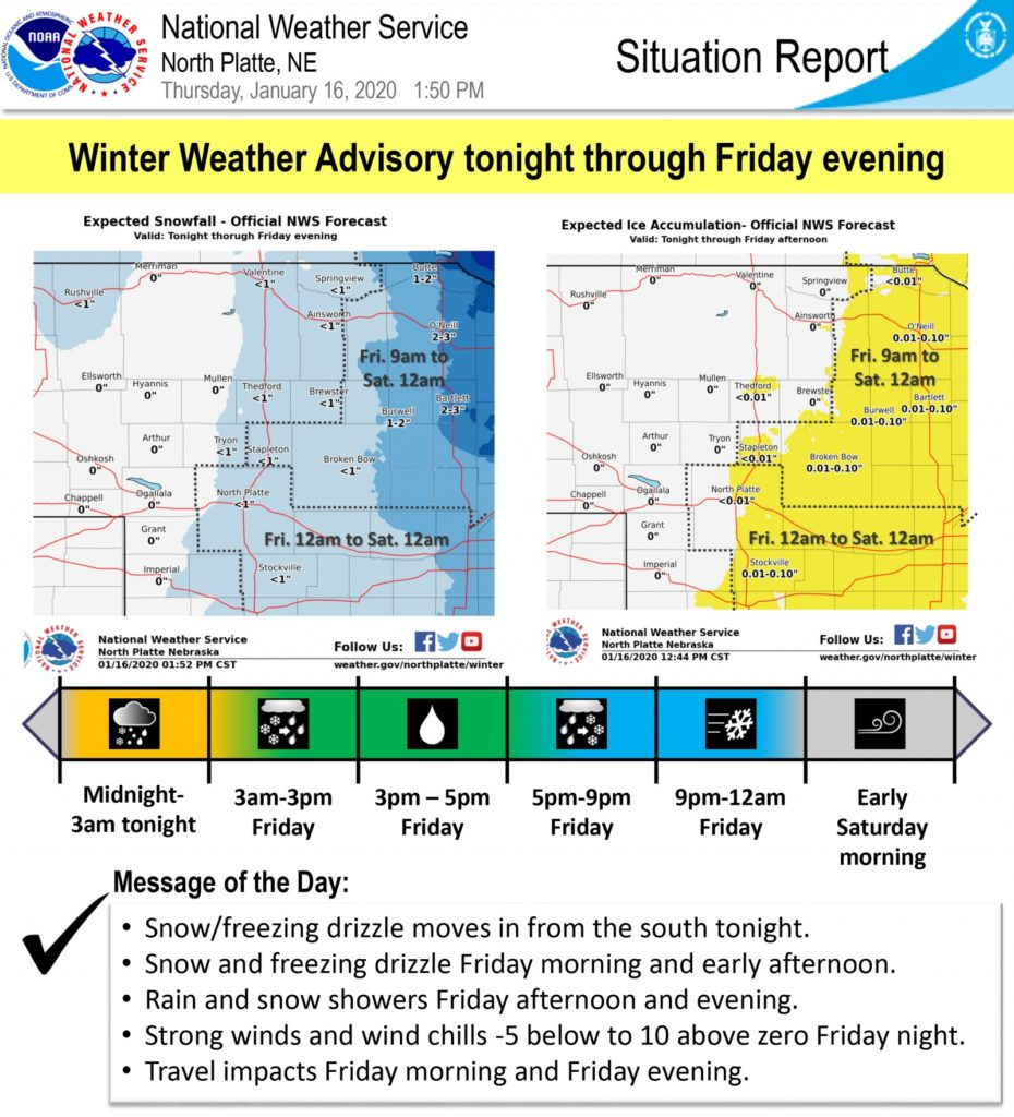 High winds, snow expected in the mountains Friday