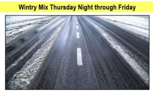 Snow, Accumulating Ice a Concern for Friday Winter Storm
