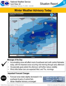 WINTER WEATHER ADVISORY... in effect until Midnight Wednesday