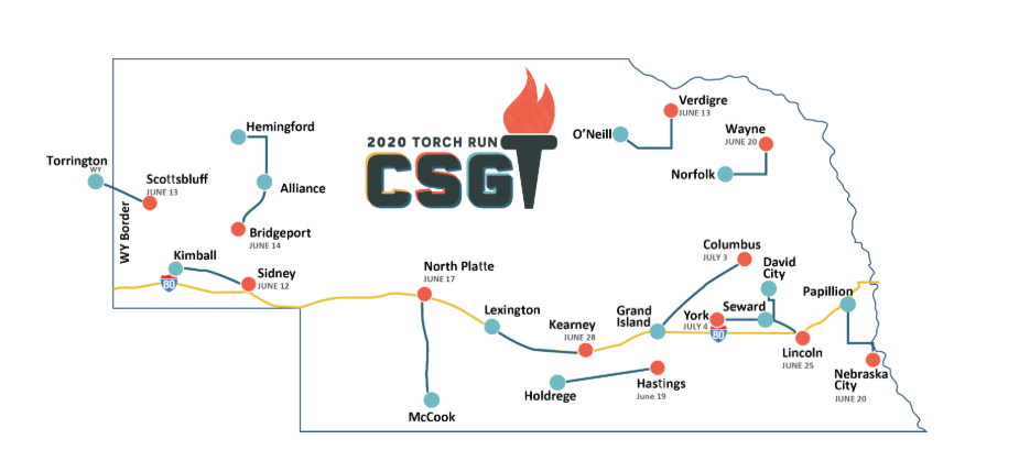 2020 Cornhusker State Games Torch Run Route Announced