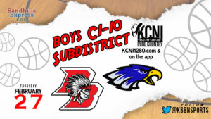 Area Boys Subdistrict Finals Tonight / Broken Bow vs O'Neill on KCNI / Anselmo-Merna vs Burwell on KBBN