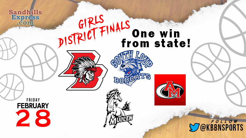 Girls District Finals – Broken Bow, South Loup, Anselmo-Merna, and Mullen Look to Qualify for State Tournment