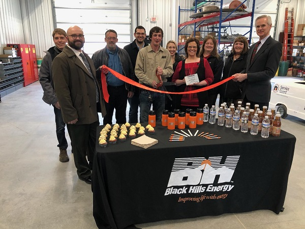 Black Hills Energy Cuts Ribbon On New Building And Is Also Presented With Grow Award