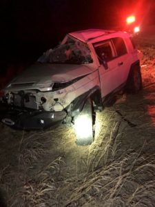 Early Morning Rollover Accident Totals Vehicle; No Injuries