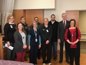 Lt. Gov. Mike Foley Visits Labor and Delivery Unit at JMMMMC