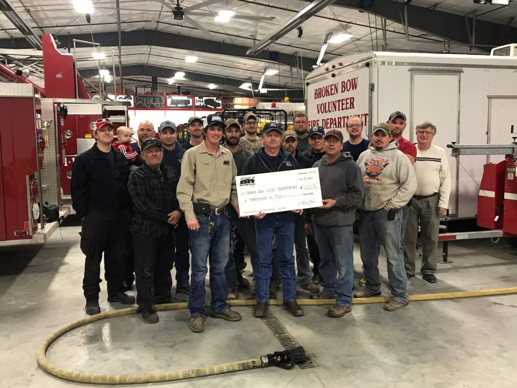 Black Hills Energy Donates $1,000 to Broken Bow Fire Department
