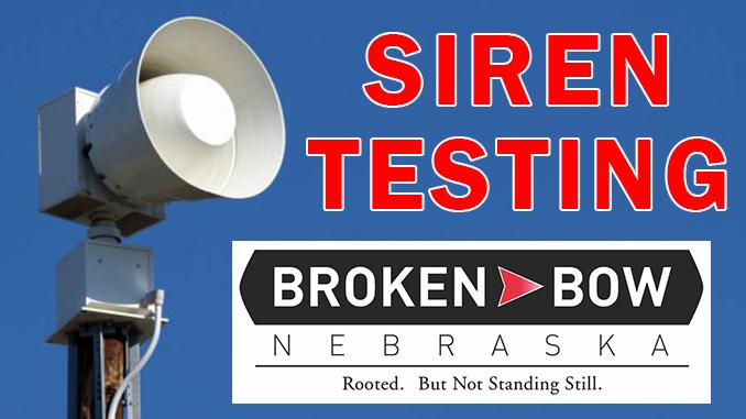 Siren Testing Begins For Broken Bow March 3