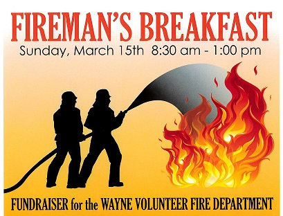 Wayne Fireman's Breakfast Cancelled, Donations Still Be Accepted