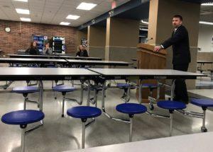 Current JH Teacher and JH/Varsity Coach Spoke at Community Forum