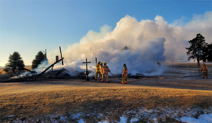Man suspected of setting fire that destroyed historic church