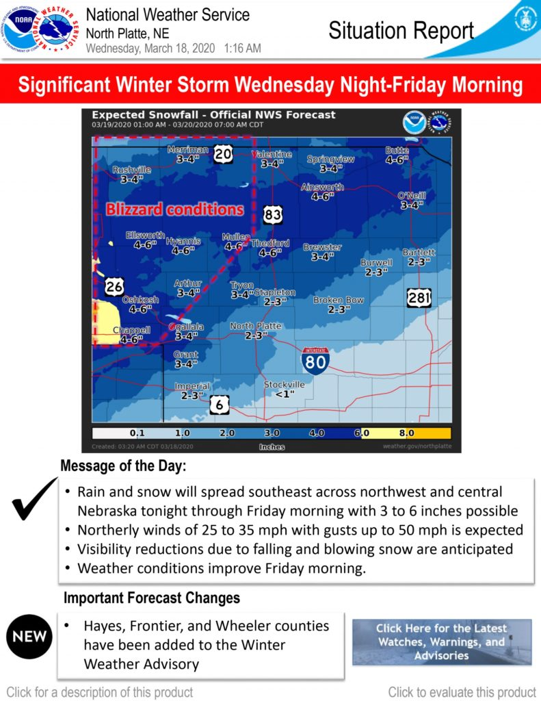 Powerful winter storm will track across the area late Wednesday into early Friday morning