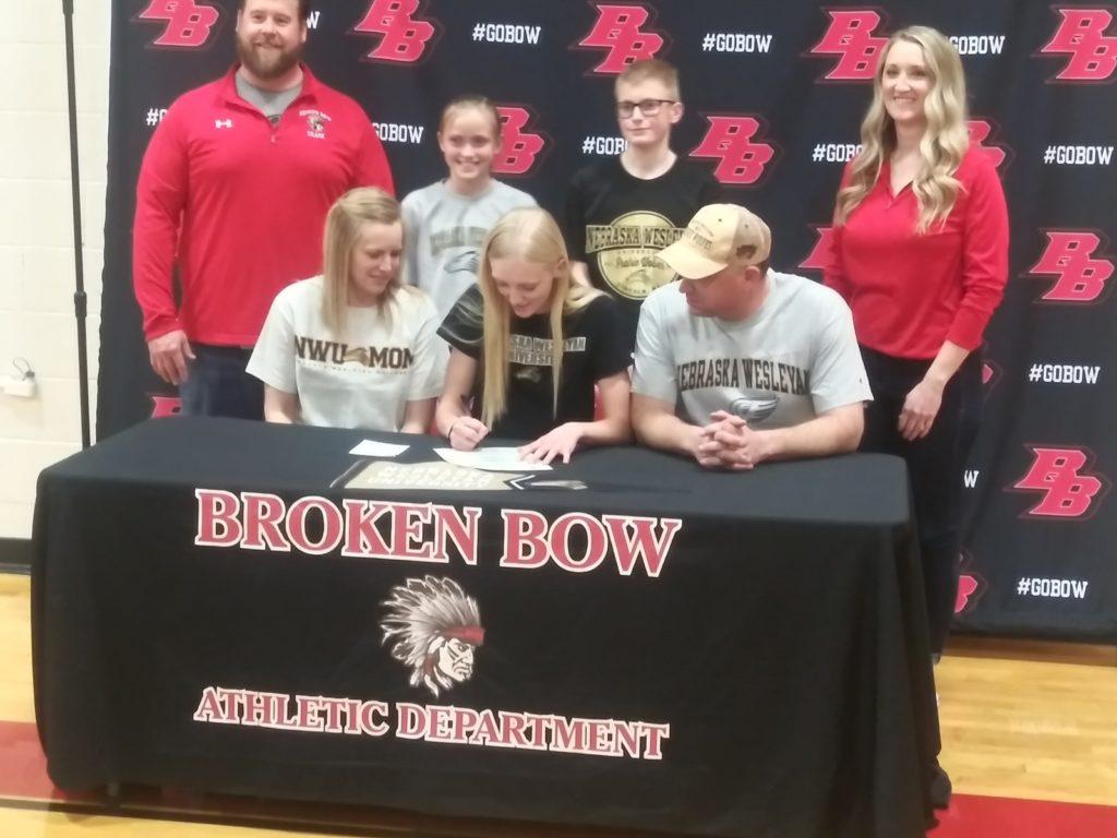 Broken Bow High School Senior Lindsay Schauda Signs Letter of Intent to Run Track for Nebraska Wesleyan