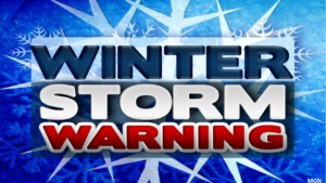 Winter storm warning in effect from 4 pm Friday to 7 pm Saturday
