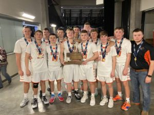 Northeast Nebraska Boys Basketball Program Brings Back First-Ever State Championship Trophy
