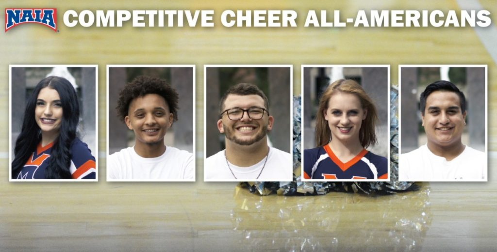 Five Warriors Named to NAIA All-America Cheer Team