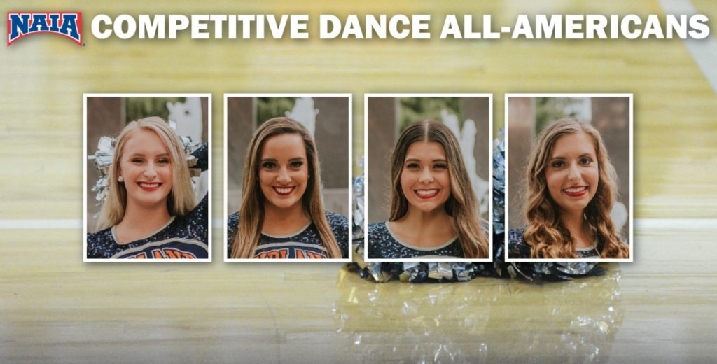 Four Warriors Named to NAIA Dance All-America Dance Team