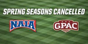 NAIA, GPAC Cancel Spring Seasons
