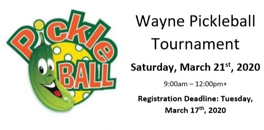 Wayne Pickleball Tournament Scheduled For March 21, Registration Due March 17