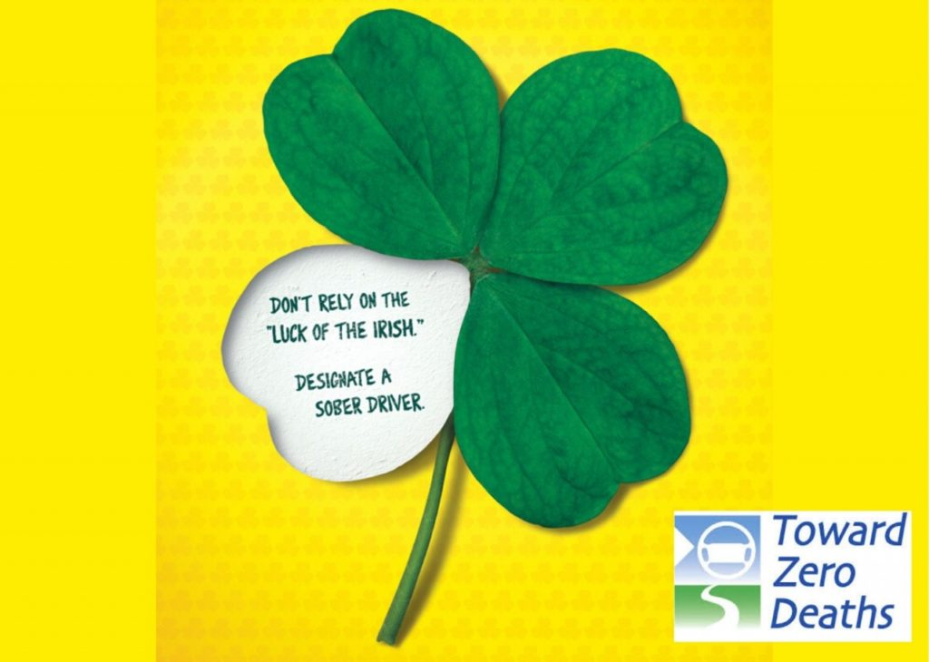 """NDOT: """"Who's Driving Home?"""" from St. Patrick's Day Celebrations"""