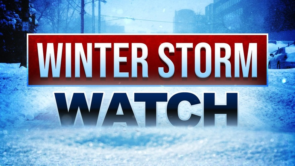 Winter Storm Watch Wednesday night into Thursday