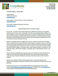 Third COVID-19 Case in Custer County is Community Spread