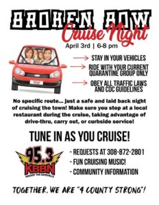 Broken Bow Cruise Night Friday, April 3
